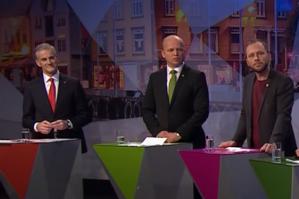 Arbeiderpartiet og SV går begge fram på en ny gallup som Dagens Næringsliv presenterer i dag, og begge partiene måles klart bedre enn resultatet fra forrige stortingsvalg. Høyre og Frp faller tilbake.