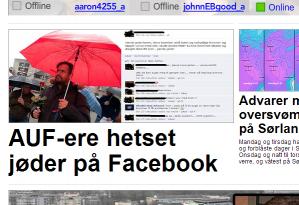 I dag har flere medier skrevet om at en AUF'er i Hamar har hetset jøder på sosiale medier. Nå viser det seg at jødehetseren ikke er AUF'er likevel.