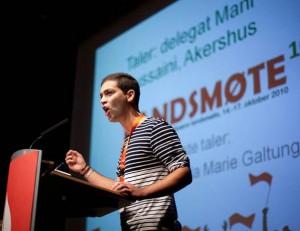 INNSTILT SOM NY AUF-LEDER: Mani Hussaini (26) fra Akershus er innstilt som ny leder i AUF. Foto: Facebook.